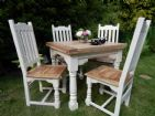 Small Rustic Oak Finish Extending Table (painted)